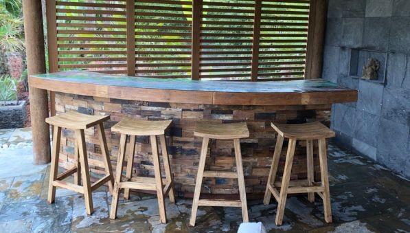 Chaises de bar et Bar  Kaolan monde et jardins
