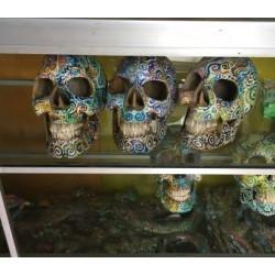 Crânes en motifs colorés - Kaolan monde et jardins
