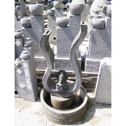 Fontaine de Bali avec statuette de Ganesh - Kaolan monde et jardins