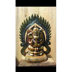 Statuette de Ganesh en acier -Kaolan monde et jardins