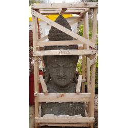 Buste de Bouddha taillé en pierre naturelle