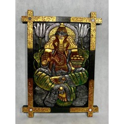 Panneaux Ganesh en bois gravés de Bali