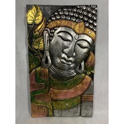 Panneaux bouddha en bois gravé