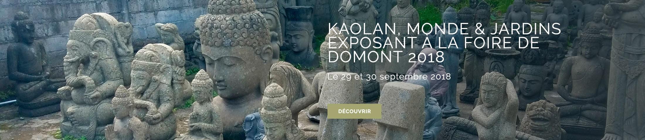 Kaolan, Monde et Jardins - vous propose une large gamme de produits de décoration et de qualité, tout droit venue d'Asie du Sud Est, pour égayer vos extérieurs, vos terrasses et vos jardins.